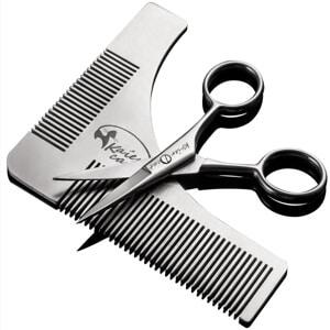 Mejores productos para hombre tijeras de barba y bigote kaiercat it peine y tijeras