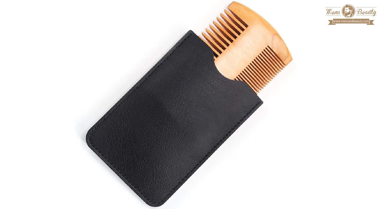 herramientas y utensilios para cuidar y mantener la barba koojawind peine para barba de madera