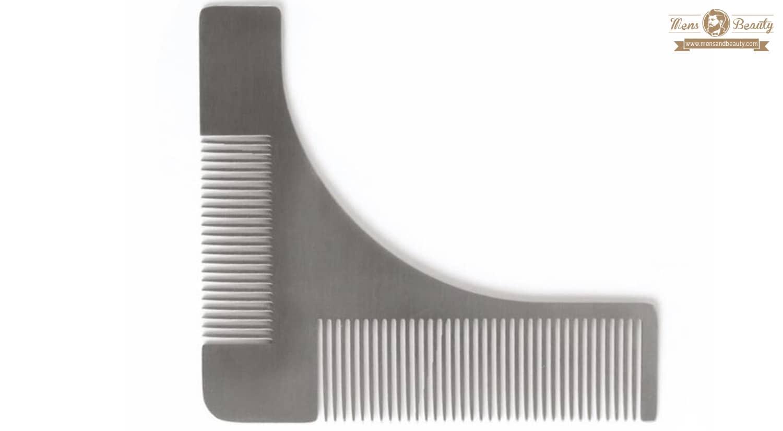 herramientas y utensilios para cuidar y mantener la barba mens time recortador para barbas plantilla barba