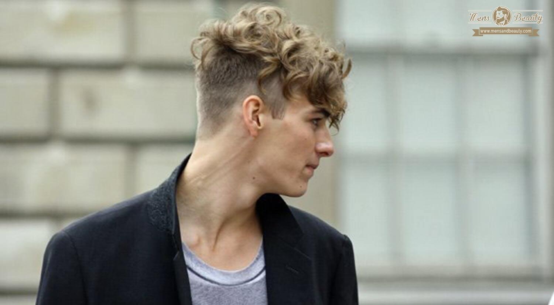 mejores cortes de pelo hombre- rizado undercut rizado