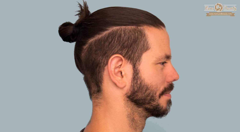 mejores peinados cortes de pelo hombre cabello largo moño