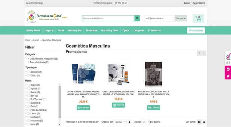 mejores tiendas belleza hombre cosmetica masculina farmacia parafarmacia online farmacia en casa
