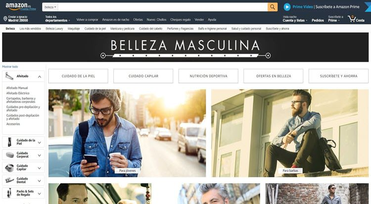 mejores tiendas belleza hombre cosmetica masculina perfumeria online amazon