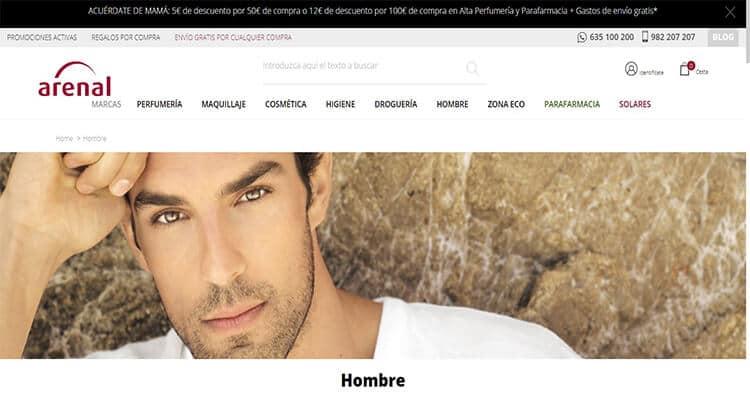 mejores tiendas belleza hombre cosmetica masculina perfumeria online arenal