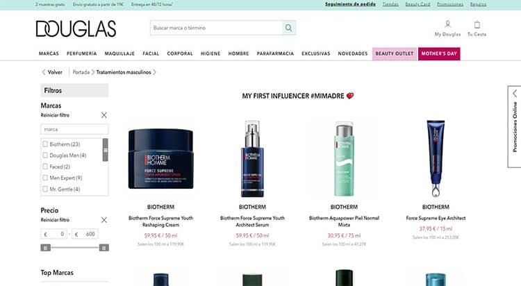 mejores tiendas belleza hombre cosmetica masculina perfumeria online douglas