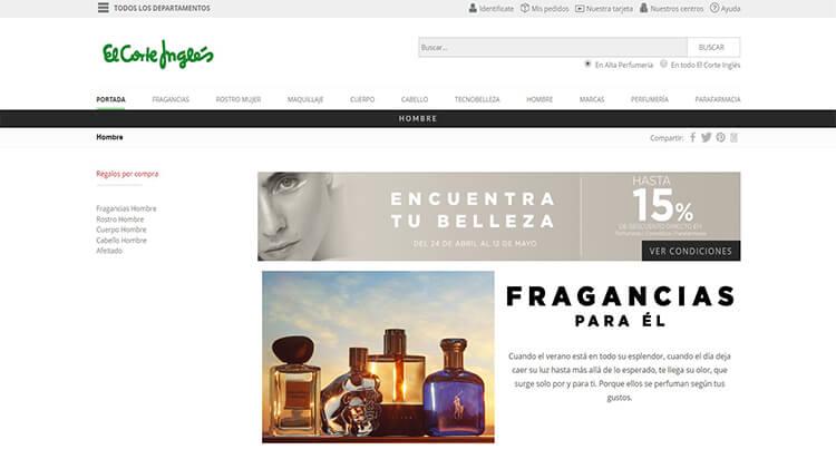 mejores tiendas belleza hombre cosmetica masculina perfumeria online el corte ingles