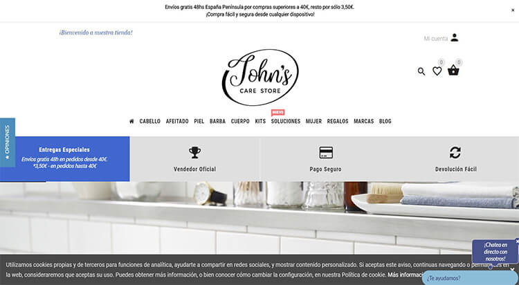 mejores tiendas belleza hombre cosmetica masculina perfumeria online johns care store