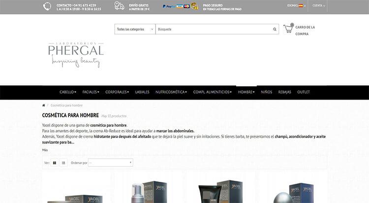 mejores tiendas belleza hombre cosmetica masculina perfumeria online laboratorios phergal
