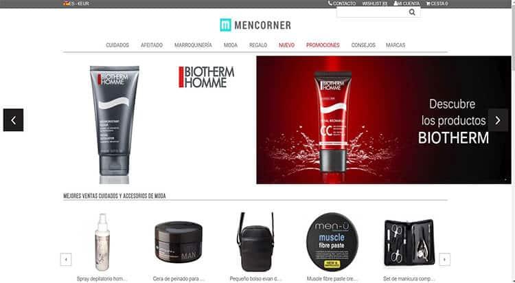 mejores tiendas belleza hombre cosmetica masculina perfumeria online men corner