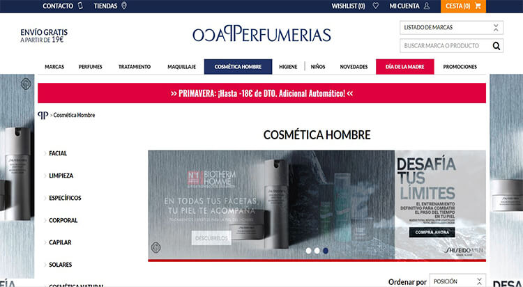 mejores tiendas belleza hombre cosmetica masculina perfumeria online paco perfumerias