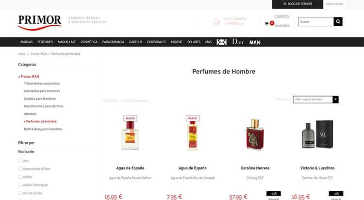 mejores tiendas belleza hombre cosmetica masculina perfumeria online primior