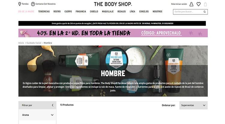 mejores tiendas belleza hombre cosmetica masculina perfumeria online the body shop