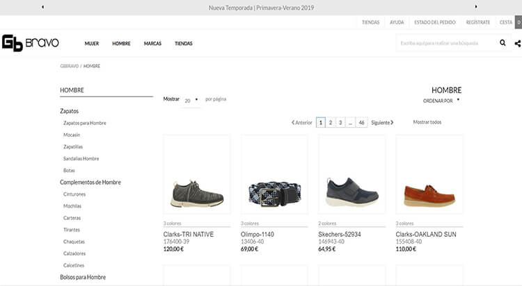 mejores tiendas comprar moda belleza calzado hombre bravo