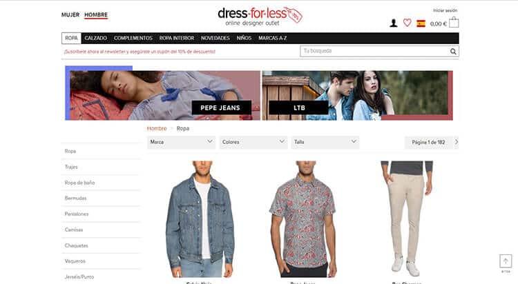 mejores tiendas comprar moda belleza hombre dress for less