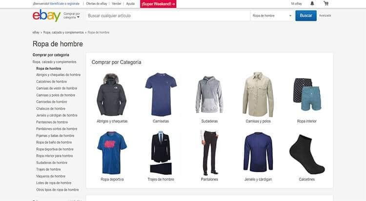 mejores tiendas comprar moda belleza hombre ebay