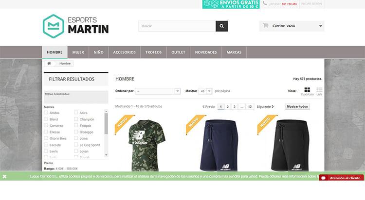mejores tiendas comprar moda belleza hombre esports martin
