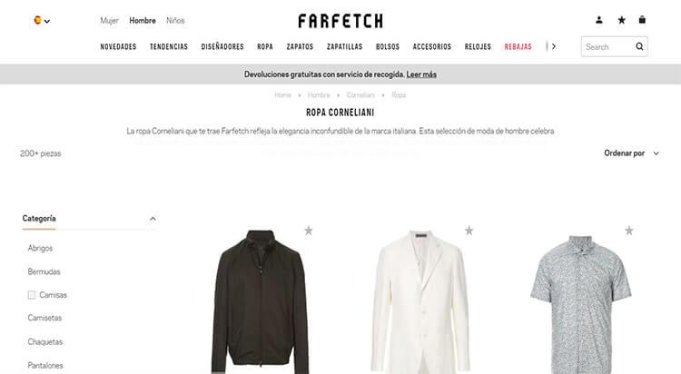 mejores tiendas comprar moda belleza hombre farfetch