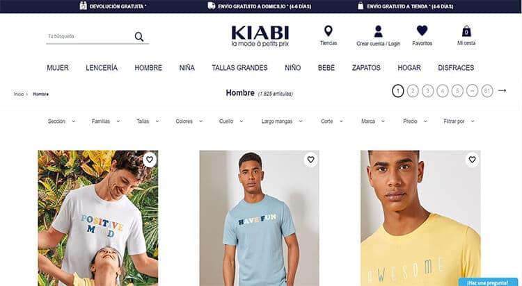 mejores tiendas comprar moda belleza hombre kiabi