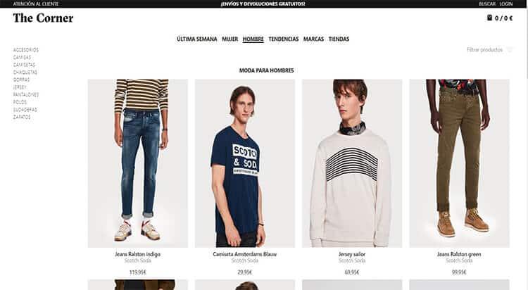 mejores tiendas comprar moda belleza hombre the corner