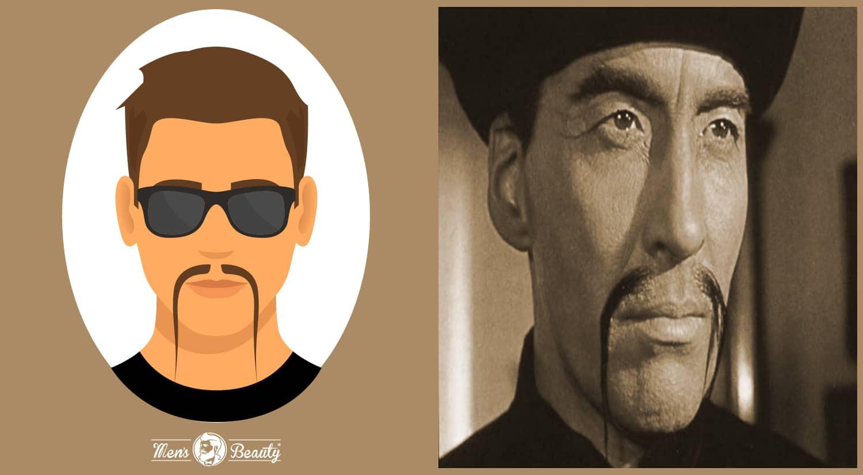 tipos de bigotes estilos cortes fu manchu