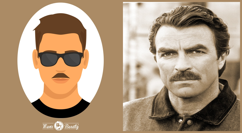tipos de bigotes estilos cortes lampshade