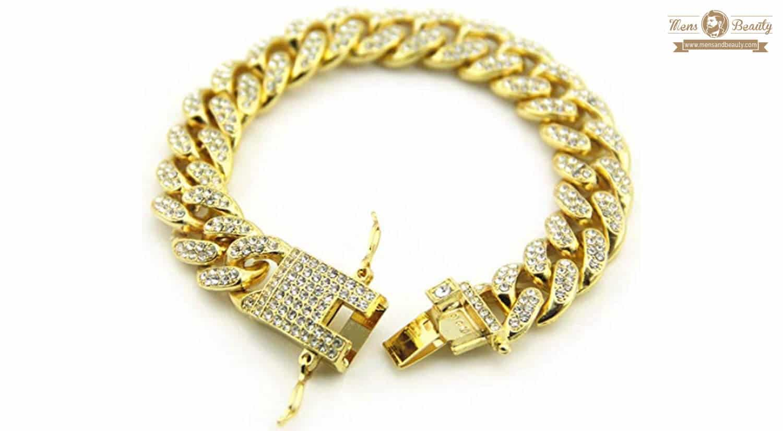 mejores pulseras para hombre diamante aszhdfihas pulsera hip hop