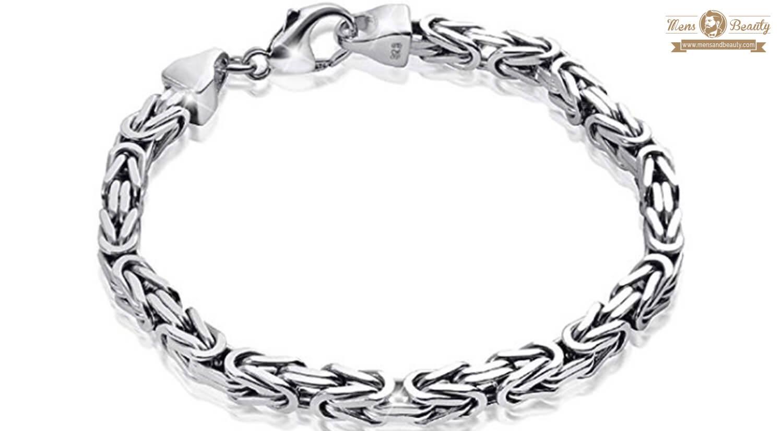 mejores pulseras para hombre plata materia pulsera bizantina