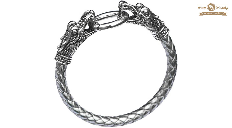 mejores pulseras para hombre plata mese london piel dragon