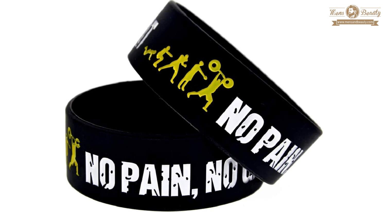 mejores pulseras para hombre silicona 11thgear no pain no gain