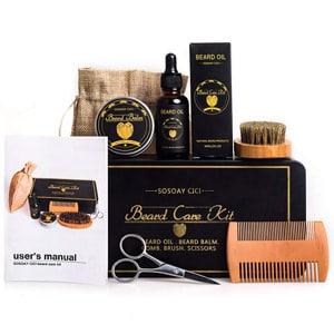 mejores regalos para hombres productos belleza kit cuidado barba sosoaycici