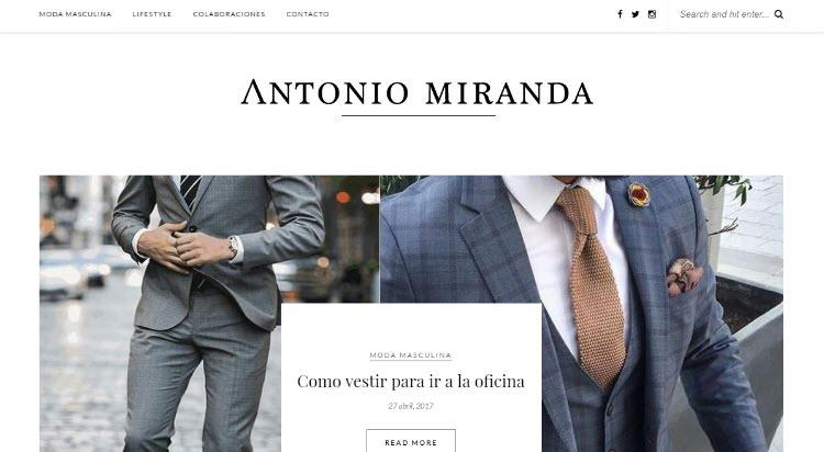 mejores blogs moda belleza masculina tendencias hombre antonio miranda