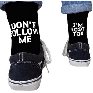 tipos calcetines hombre con mensaje im lost certylu