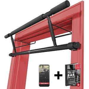rutina de entrenamiento en casa tonificar accesorios fitness barra dominadas