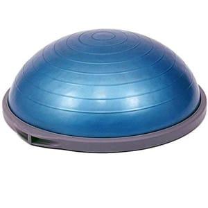 rutina de entrenamiento en casa tonificar accesorios fitness bosu balon equilibrio