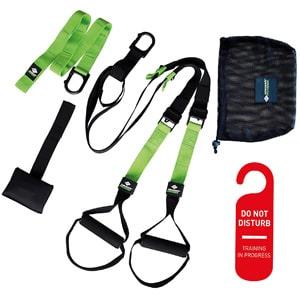rutina de entrenamiento en casa tonificar accesorios fitness trx cintas suspension