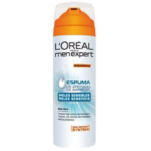 mejor gel espuma crema de afeitar hombre espuma aloe vera l oreal men expert