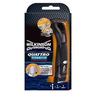 mejores cuchillas afeitar hombre maquinillas sword quattro titanium wilkinson