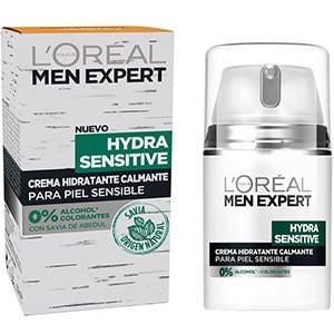 mejores productos belleza hombre cremas hidratantes faciales masculina pieles sensibles loreal men expert hydra sensitive